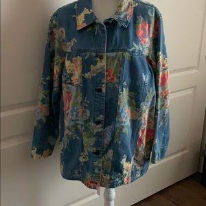Susan Graver Denim Shirt/Jacket- Size 1X
